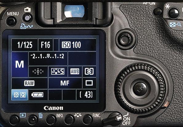 Tela da câmera mostrando o modo manual que todo iniciante em fotografia tem que testar